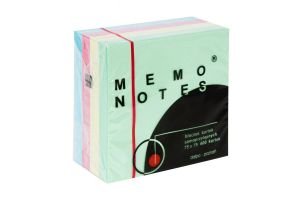 Notes samoprzylepny 75x75mm Pastel a:400k MEMO NOTES Dalpo