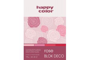 Bloki DECO z papierem barwionym A4/A5/20 ark.170g.Happy Color GDD.