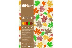 "Blok Deco A4/20ark.""AUTUMN""5kol.170gr.Happy Color GDD."