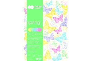 "Blok Deco A4/20ark.""SPRING""Pastel 170g.5kol.Happy Color GDD"