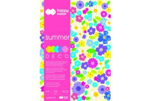 "Blok Deco A4/20art.""SUMMER"" 5 kol.170g.Happy Color GDD"
