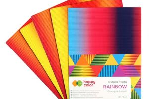 Tektura falista RAINBOW A4/5 Happy Color GDD