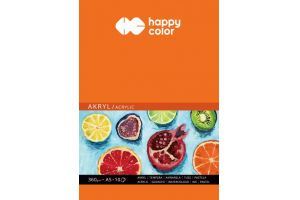 Blok do akrylu A3/10ark.360gr.biały Happy Color GDD