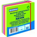 Notes samoprzylepny 76x76mm Neon pastel mix.zielon...